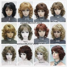 62aa0d502f8 Aliexpress Hair. Women  s Medium short Curly wigs High quality Synthetic hair  wig blonde