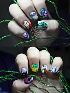 Awesome Little Mermaid Nails