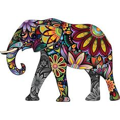 DesignArt Yellow Cheerful Elephant - 3 Piece Graphic Art on Wrapped Canvas Set Indian Elephant Art, Colorful Elephant, Indian Art, Elephant Blanket, Elephant Applique, Elephant Tapestry, Outdoor Floor Mats, Indoor Outdoor, Elephant Silhouette