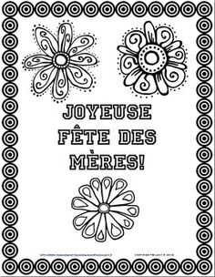 Mother's Day ( la fête des mères ) Color & Write Activity