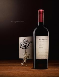 The Print Ad titled VINE was done by Riney San Francisco advertising agency for product: Beringer Wine (brand: Beringer) in United States. Cabernet Sauvignon, Beringer Wine, Wein Poster, Wine Advertising, Wine Vine, Wine Magazine, Wine Shelves, Wine Photography, Wine