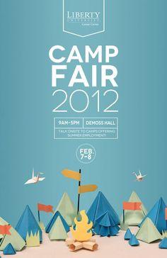 Poster  Flyer Design Liberty University Camp Fair poster: