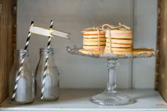 Parceled cookie packages, a great idea for the wedding sweetie table and milk bottles. For more inspiration visit www.weddingsite.co.uk