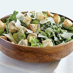 Pesto Caesar Salad - Quick and Easy Italian Recipes - Cooking Light Salad Dressing Recipes, Salad Recipes, Salad Dressings, Pasta Side Dishes, Pasta Sides, Pasta Dinners, Meals, Cooking Recipes, Healthy Recipes