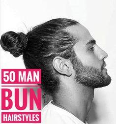 50 Handsome Man Bun Hairstyles - Men Hairstyles World Widows Peak Hairstyles, Bun Hairstyles For Long Hair, Side Hairstyles, Undercut Hairstyles, Man Bun Undercut, Undercut Pompadour, Long Curly Hair Men, Man Bun Styles, Growing Your Hair Out