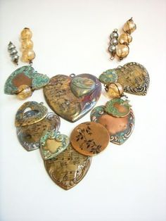 Decoupage Colorized Hearts from Brenda of B'sue Boutiques...love