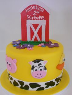 Cute Farm Theme Cake