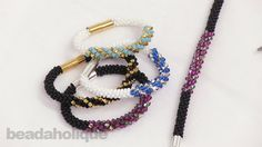 How to Make the Deluxe Beaded Kumihimo Bracelet Kit with Spiral Bicone. Video tutorial