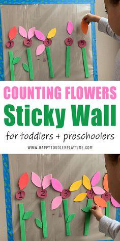 Toddler Learning Activities, Spring Activities, Montessori Activities, Kindergarten Activities, Math Activities For Preschoolers, Flower Activities For Kids, Preschool Education, Time Activities, Early Education