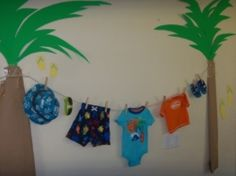 A surf or beach-themed baby shower is a great idea for a summer get-together!