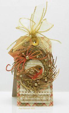 Peets Scrapalbum: Wreath Tag