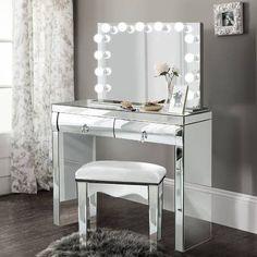 Ebern Designs Spurlin Dressing Vanity with Mirror & Reviews | Wayfair