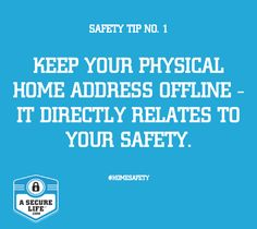 Why let the world know where you live. Your home address could fall into the wrong hands! Follow this to keep safe: #SaferInternet