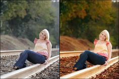 Blueprint: Senior Girl in the Fall on the Tracks {Fan Share} » MCP Actions