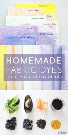 Long before there were chemical dyes, people made homemade dye for fabric using natural plant products. From mulberries for dark purple to the deep brown from walnut hulls, nature provides a rainbow of dye materials. Purple Dye, Dark Purple, Natural Dye Fabric, Natural Dyeing, How To Dye Fabric, Dyeing Fabric, Fabric Dyeing Techniques, Nature Crafts, Shibori
