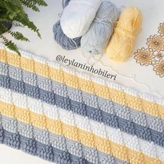 43 Knitted Baby Blanket Models with Embossed Motif Figures - Hakeln Baby Knitting Patterns, Crochet Blanket Patterns, Baby Blanket Crochet, Crochet Stitches, Knit Crochet, Crochet Hats, Knitted Baby, Bobble Stitch, Knitted Blankets
