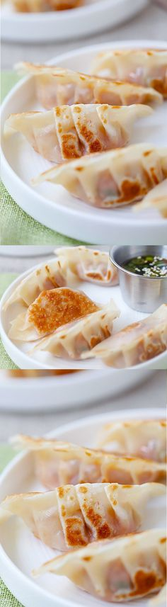 Pork and Shiitake Gyoza - healthy and delicious Japanese dumplings that you can make at home with this super easy recipe | rasamalaysia.com