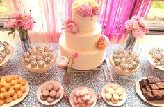 pink and blue dessert table ideas