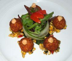 Crab Balls with Roasted Corn Salsa - Mamajuana - Secaucus - New Jersey - Melody Kettle - Devil Gourmet - www.DevilGourmet.com