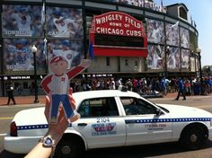 Flat Bob at Wrigley Field 2.  Help us raise awareness of SADS conditions and save young lives!  www.StopSADS.org/flat-bob