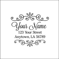 Personalized Custom Made Return Address Rubber by mycustomstamps, $7.50