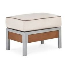 Bryant Faux Wood Patio Ottoman - Threshold™ : Target