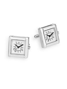 Saks Fifth Avenue Watch Cuff Links - No Color - Size No Size