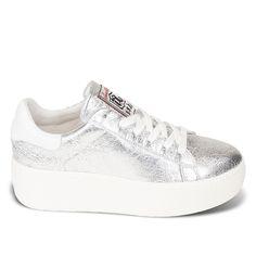 Ash Cult Platform Sneaker Silver Leather 360152- Ash Sneakers