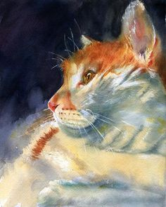 Rachel Parker (American): Byron; watercolour on paper.