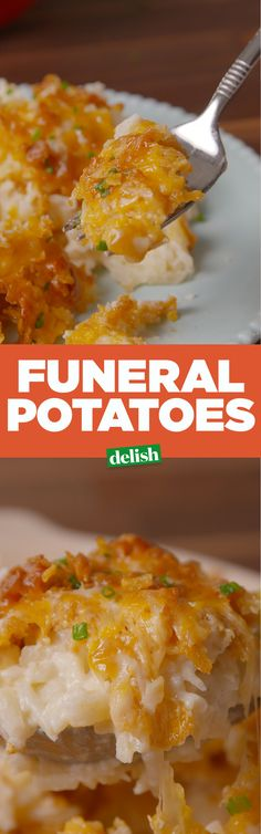 Potatoes One bite of these Cheesy Funeral Potatoes and you can die happy. Get the recipe on .One bite of these Cheesy Funeral Potatoes and you can die happy. Get the recipe on . Potato Dishes, Food Dishes, Side Dishes, Main Dishes, Potatoe Casserole Recipes, Potato Recipes, Side Dish Recipes, Dinner Recipes, Dinner Ideas