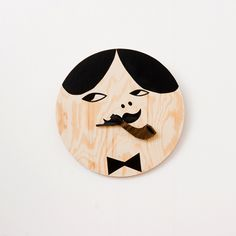 Pipgubbe     Wall clock:  Hand made of plywood. Barrel is spinning around.  Signerad. Each watch is unique. Pick your favorite!
