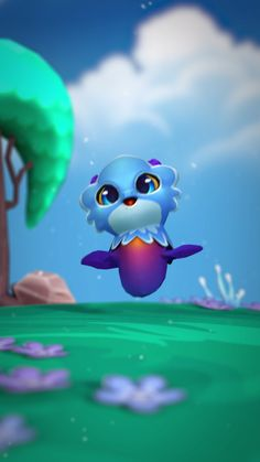 Raise Baby Billow Dragon Right From Your Mobile Phone! Play Dragonvale World Today For Free.