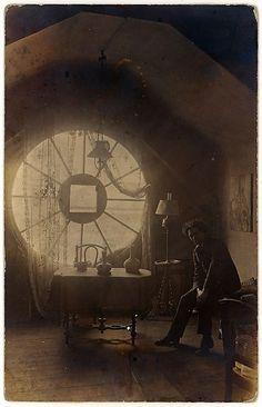 Brassaï in his Berlin Studio (Atelier), 1921. (photo by unknown author)  Gelatin silver print