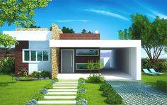 You searched for - Plantas de Casas Small House Design, Modern House Design, Plans Architecture, Architecture Design, Style At Home, Bungalow Haus Design, Modern House Plans, Facade House, House Front