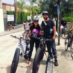 Instagram picutre by @lady_doctora_corazon: This guy here always never ceases to amaze me...gracias. #teamMnM1 en las #crazy #electric #bicis #ebike #boyleheights thank you @mcmhandles for the helmets y ride. @sol_flowers @gosondors - Shop E-Bikes at ElectricBikeCity.com (Use coupon PINTEREST for 10% off!)
