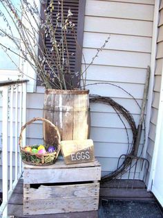 Easter porch decor i