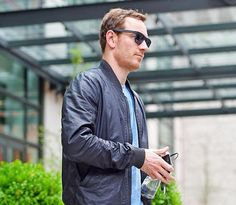 Michael Fassbender outside the Crosby Street Hotel, where the Testament of Youth press junket has been taking place in New York (June 4, 2015). Getty Images.