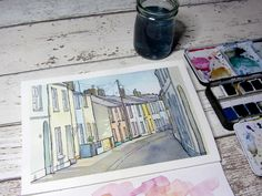 Dip pen and ink experiments with watercolour - by Clare Willcocks