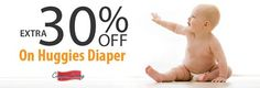 Extra 30%OFF on Huggies #Diaper at #Flipkart.com!! CLAIM NOW : http://www.couponcanny.in/flipkart-coupons/