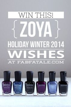 Win This! Zoya Holiday Winter Wishes Collection | Fab Fatale #fabzoyawishesgiveaway #zoya #zoyawishes