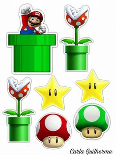 Super Mario Bros, Super Mario Birthday, Mario Birthday Party, Super Mario Party, Super Mario Brothers, Birthday Parties, Bolo Do Mario, Bolo Super Mario, Mario Cake