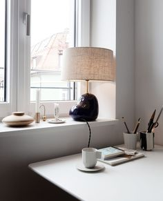 Small Space Living, Living Spaces, Ikea Wall Lamp, Beige Living Rooms, Parisian Apartment, Swedish House, Round Dining Table, Cozy Bedroom, Muted Colors