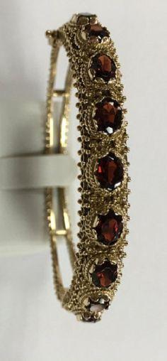 Victorians garnet bracelet