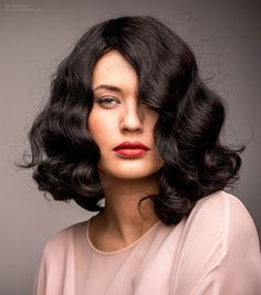 Image result for 20s curly hair #FingerWaveUpdo