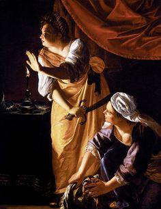Artemisia Gentileschi, Judith et sa servante Abra avec la tête d'Holopherne (1645-50)