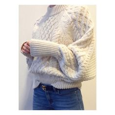 Dream sweater / denim combo. #knit #knitting #knitspo
