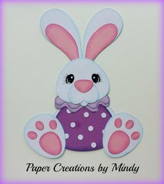 Craftecafe Mindy  Easter Bunny premade paper piecing for scrapbook page album