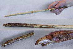 Project whoring - this is one of my creations. Phoenix wood carved wand