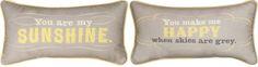 You are My Sunshine Cotton Lumbar Pillow