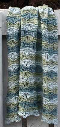 Breezy Baby Blanket free knitting pattern with drop stitch lace